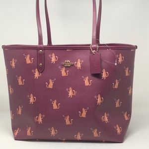 NWT Coach Reversible tote